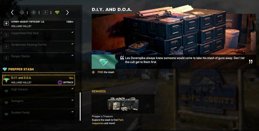DIY and DOA Prepper Stash Far Cry 5