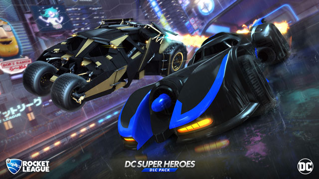 Rocket League DC Super Heroes DLC Includes Two Different Batmobiles