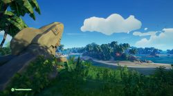 The Shark Statue Bait Cove Sea of Thieves