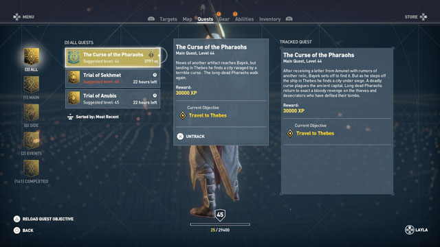 ac origins how to start curse of the pharaohs dlc