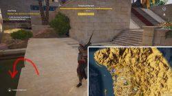 ac origins sanctuary of akhenaten entrance location