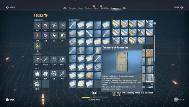 ac origins treasure of ramesses puzzle solution