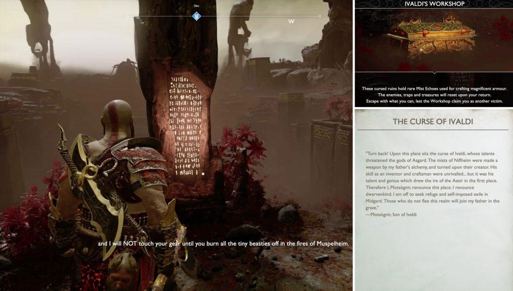 God of War Niflheim Realm Challenge Maze Walkthrough