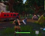 fortntie br search between stone circle wooden bridge red rv