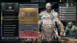 god of war best armor ivaldis pauldron of deadly mist