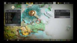 god of war hunter's kingdom treasure map location