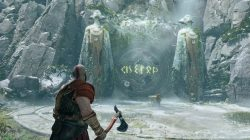 god of war rotating rune door puzzle solution river pass