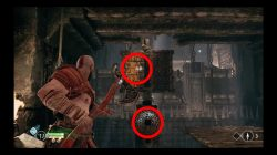 how to solve god of war river pass spiked ceiling puzzle