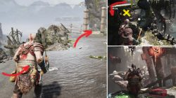 God of War Stone Falls Freeing Water Wheel