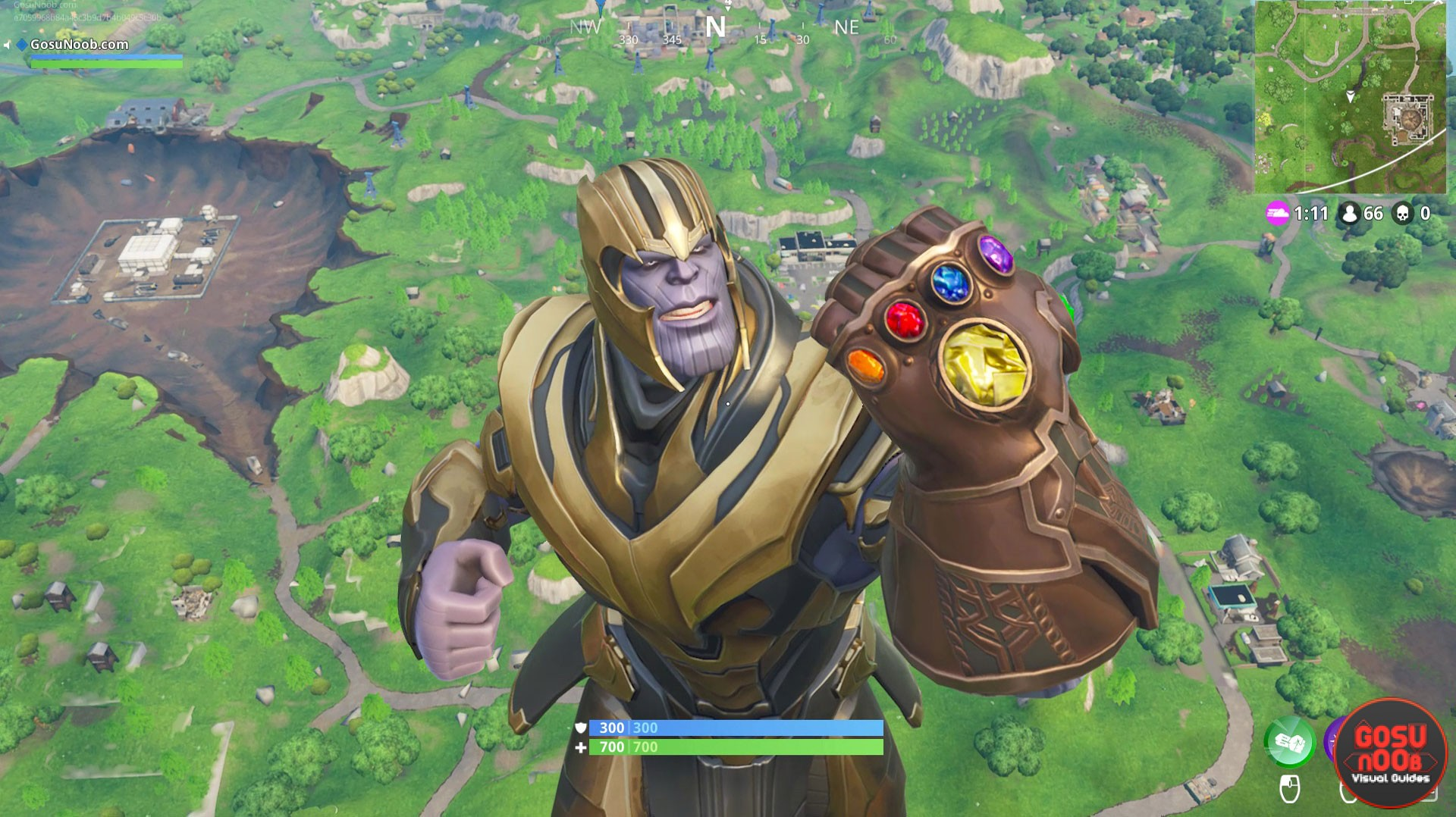 fortnite how to play thanos