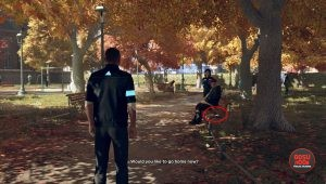 detroit become human magazine park bench