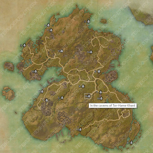 ESO Summerset Skyshard Locations Map Added to TESO Life