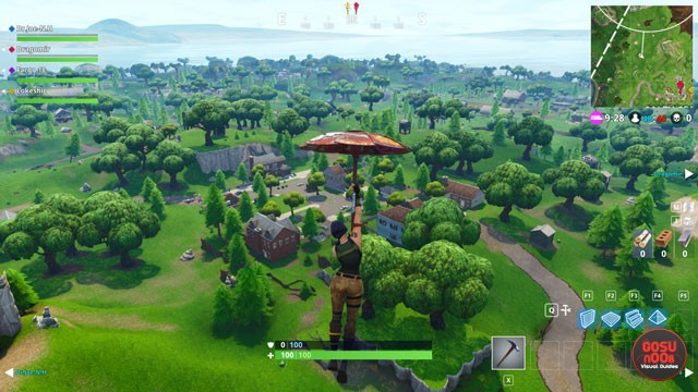 Fortnite BR Salty Springs Treasure Map Location