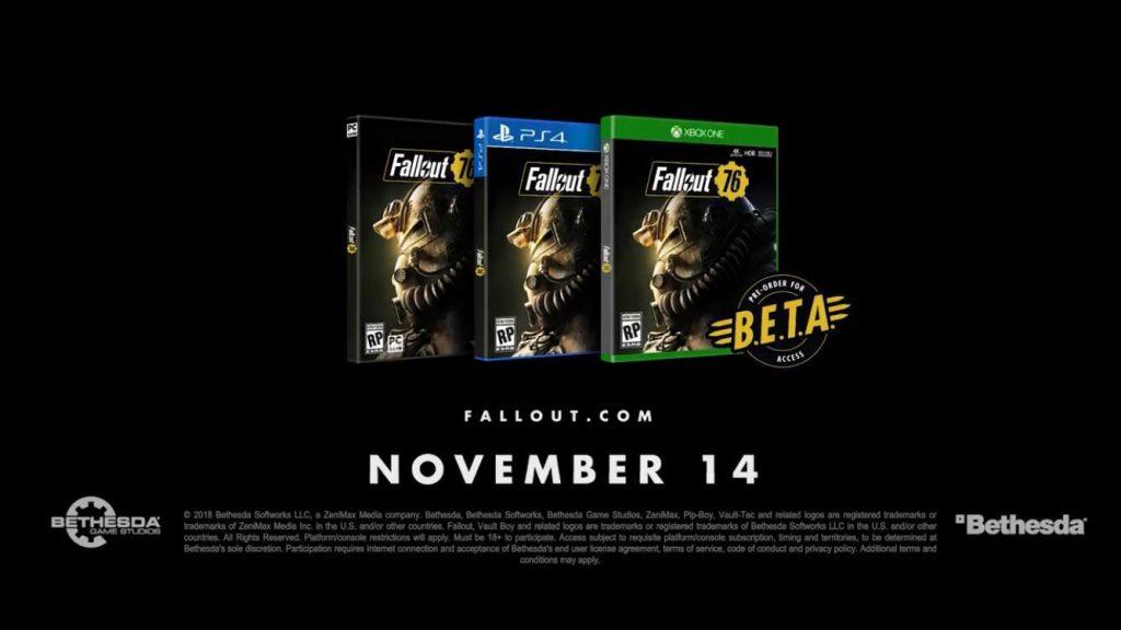 fallout 76 beta sign up