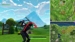 Fortnite BR Hit a golf Ball from Tee to Green on Different Holes