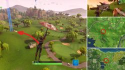Fortnite Battle Royale Flaming Hoop Location Lazy Link