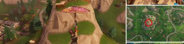 Fortnite Flaming Hoops Stunt Mountain Location