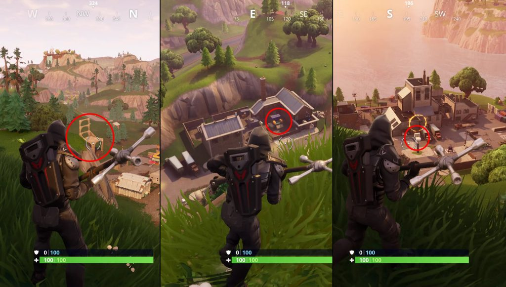 search between three oversized seats fortnite week 8 treasure map