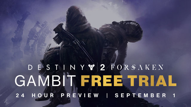 Destiny 2 Forsaken Gambit Mode Free Trial Starts September 1st