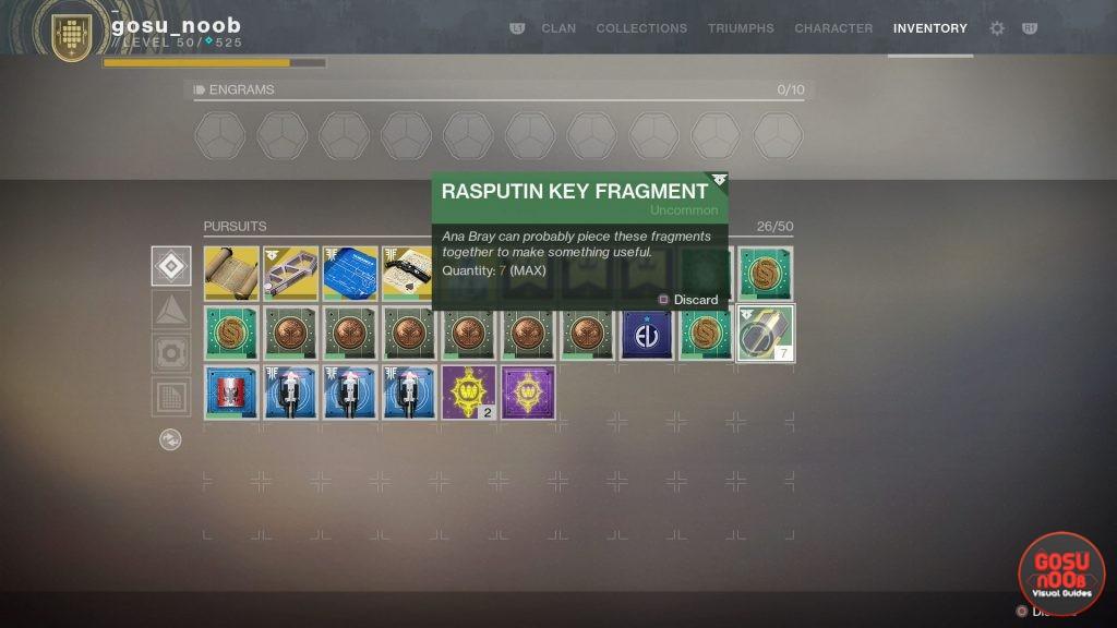 Destiny 2 Forsaken How To Get Rasputin Key Fragments