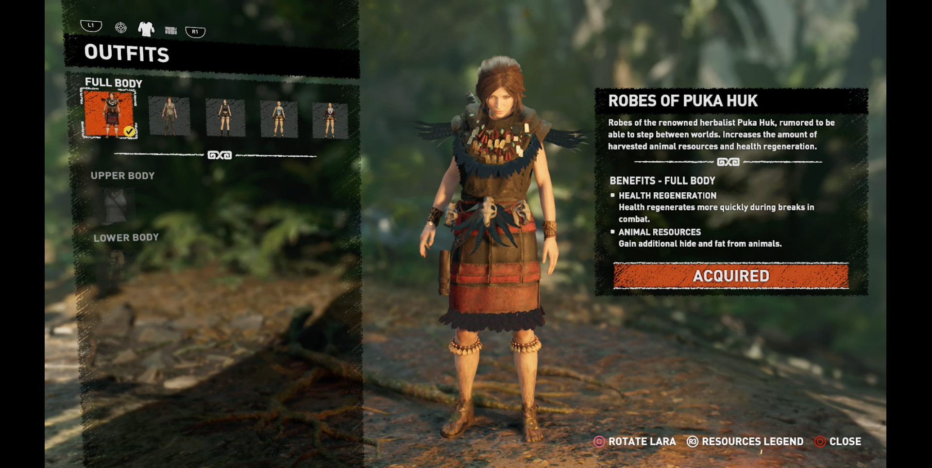 shadow of mordor how to change outfits