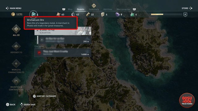 AC Odyssey How to Get Orichalcum Ore Fragments