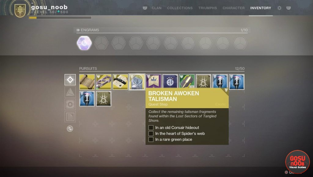 destiny 2 broken awoken talisman quest fragment locations