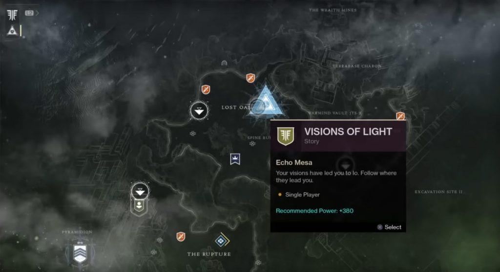 destiny 2 forsaken visions of light quest bugged