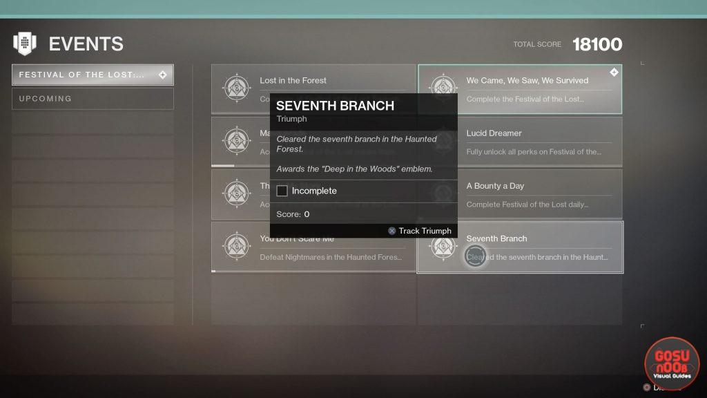 Destiny 2 Secret Haunted Forest Seventh Branch Emblem - How to Get