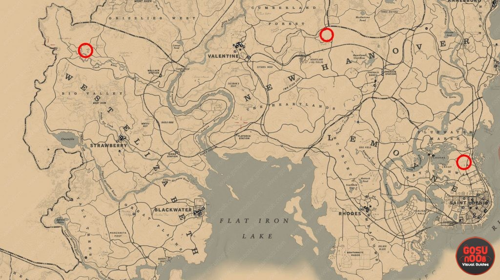 red dead redemption 2 bull locations map