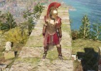 ac odyssey spartan ware hero set legendary armor