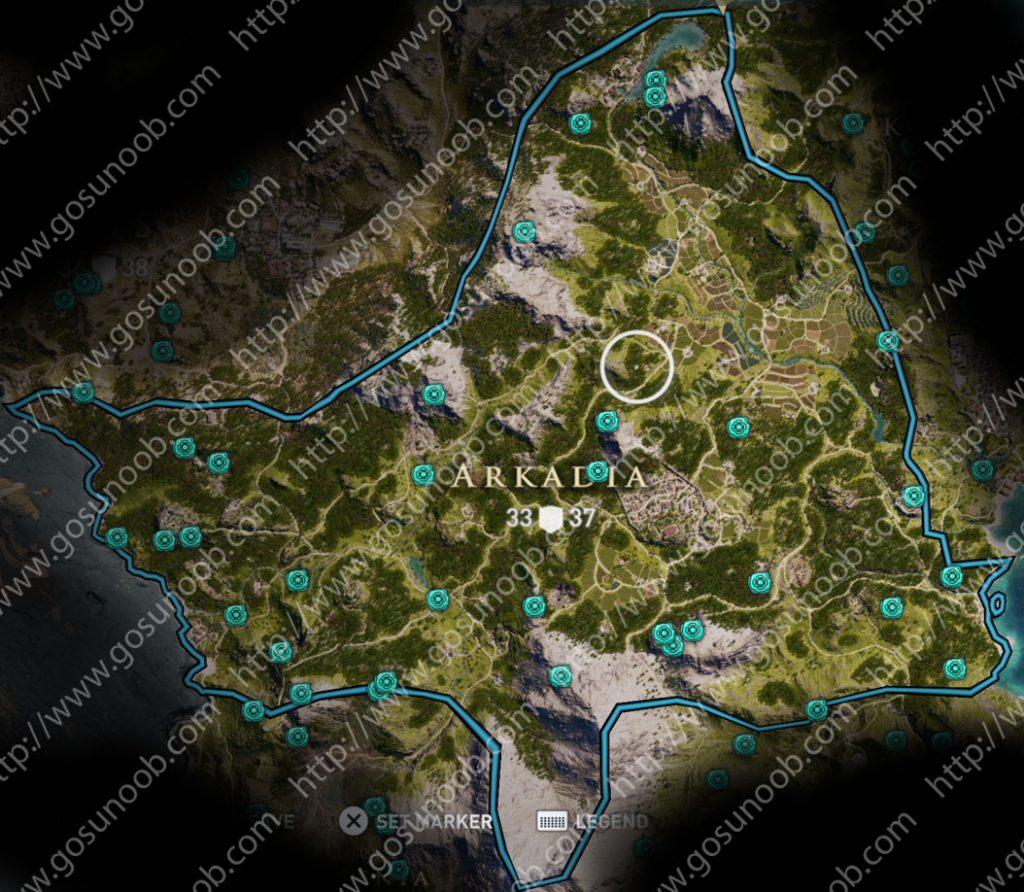 Arkadia Orichalcum Ore Ac Odyssey Map Assassins Creed Locations Of