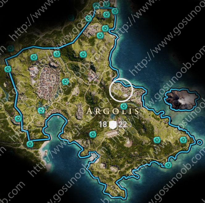Assassins Creed Odyssey Argolis Orichalcum Map Ore Locations Of