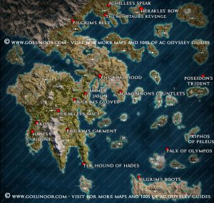 assassins creed odyssey legendary chest map locations