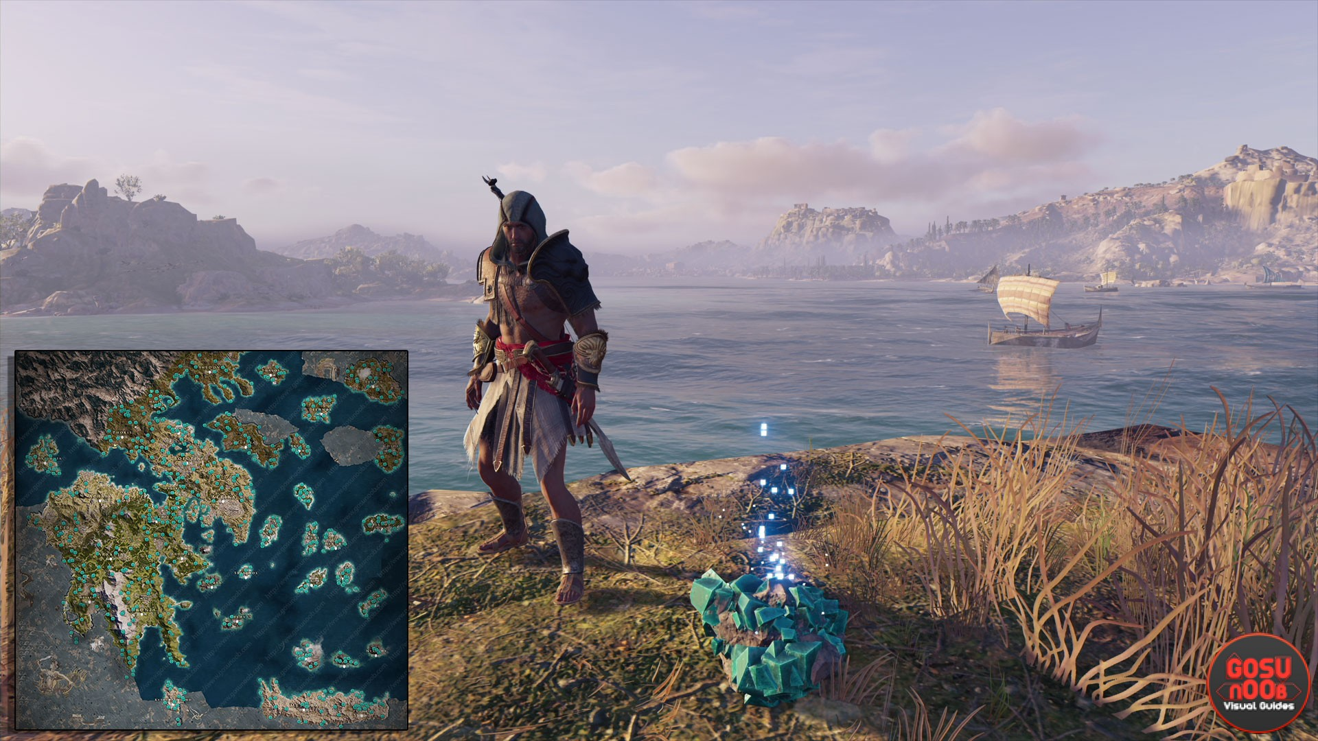assassins creed odyssey orichalcum ore map all fragment locations