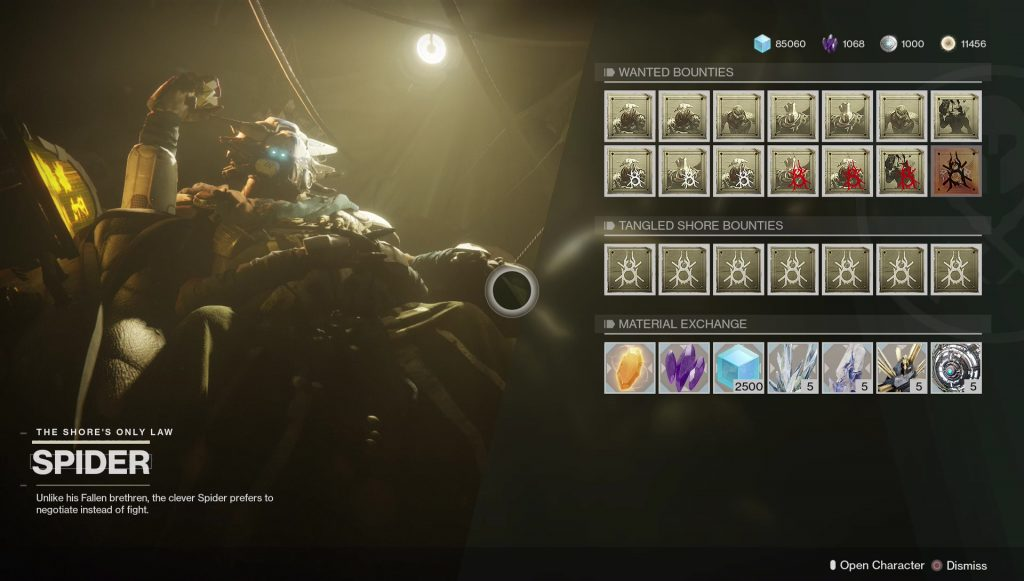 destiny 2 wanted bounty lost sector boss loot drops