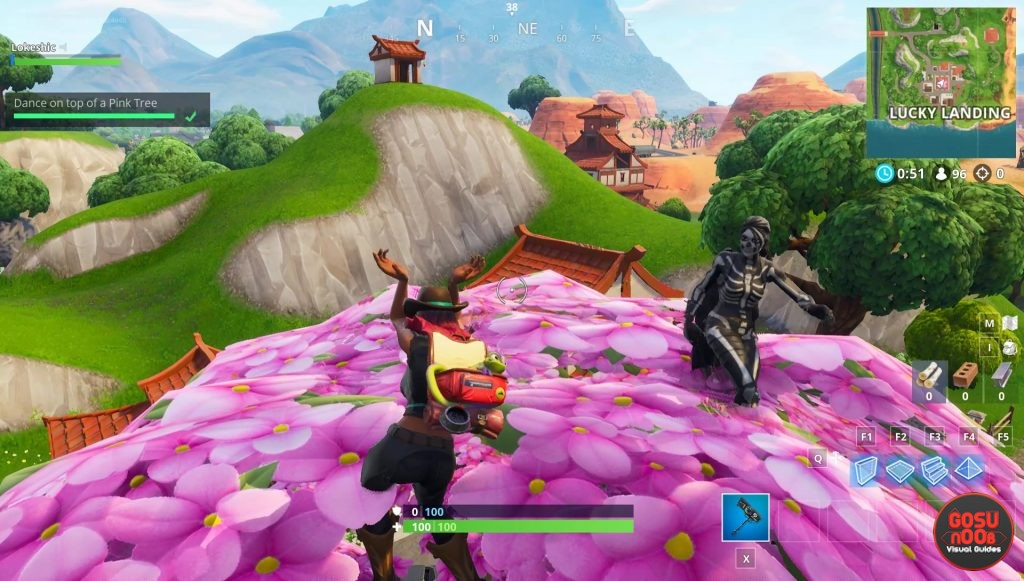 fortnite br dance on top of clock tower pink tree porcelain throne
