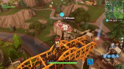 fortnite br timed trial challenge orange bridge