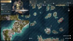 legendary chest map location Xiphos of Peleus ac odyssey