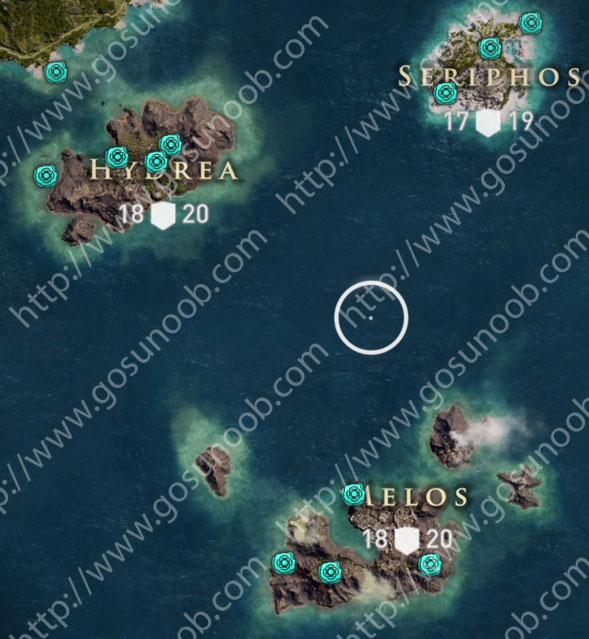 Obsidian Islands Hydrea Seriphos Melos Orichalcum Assassins Creed Odyssey Ore Map Locations Of