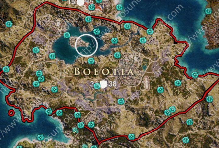 orichalcum ore map boeotia