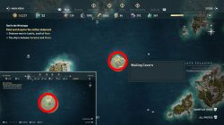 where to find lestros island in ac odyssey red in wreckage quest
