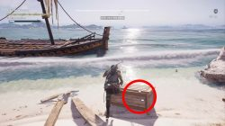 where to find miltos chests ac odyssey red in the wreckage