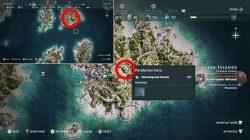 where to find porphyrion cave ainigmata ostraka location ac odyssey