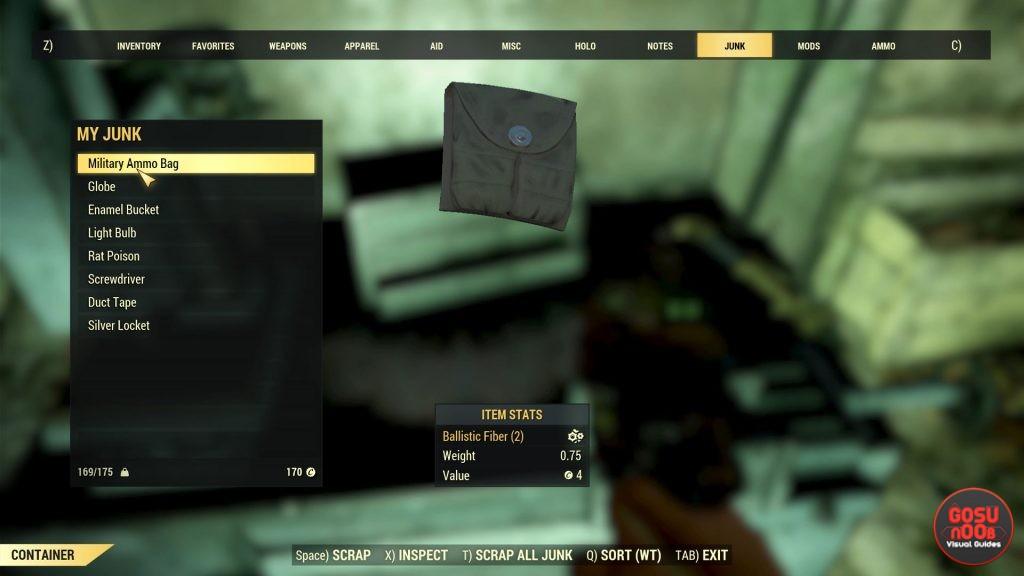 Fallout 76 Ballistic Fiber Rare Material - How to Get