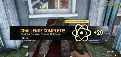 Fallout 76 Survivor Stories holotapes locations map challenge