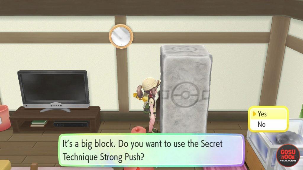 Pokemon Let's Go Pikachu & Eevee Strong Push Secret Technique - How to Get
