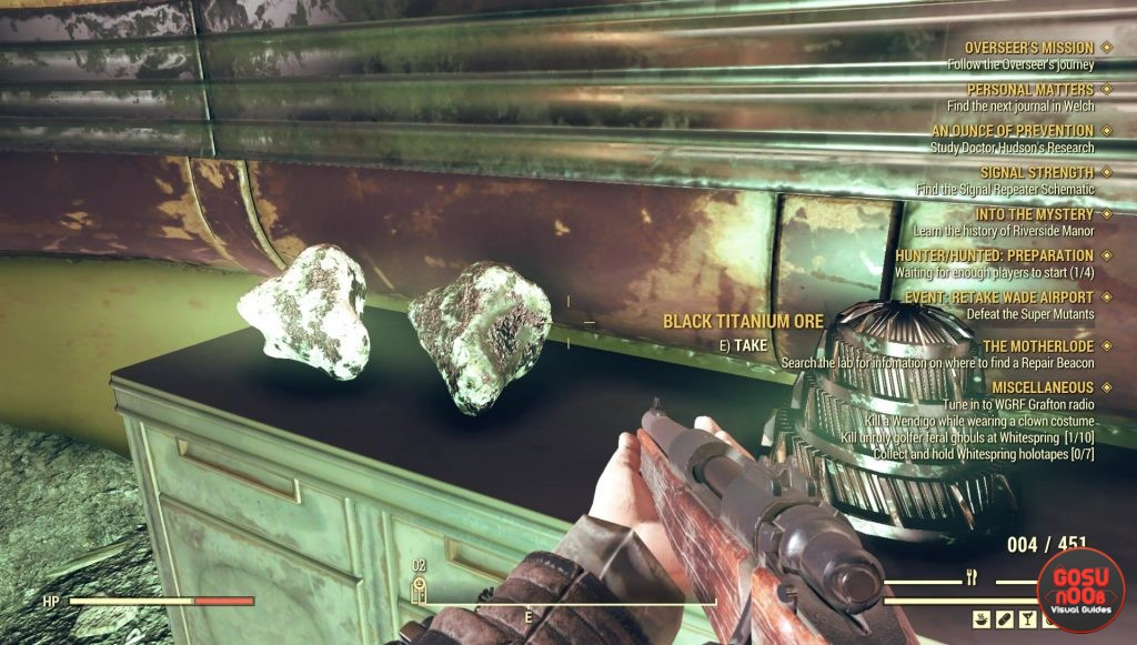fallout 76 black titanium ore locations