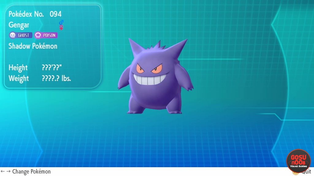 pokemon let's go gengar