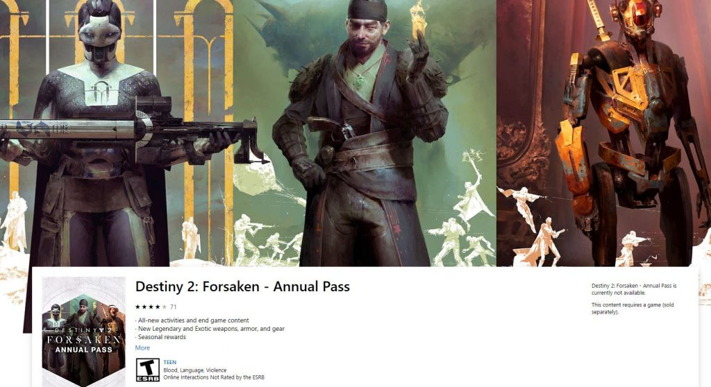 destiny 2 how to buy annual pass without forsaken